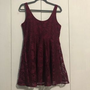 Aeropostale Purple Lace Dress